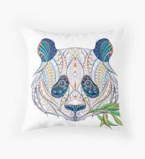 Ethnic Highly Detailed Panda Throw Pillow