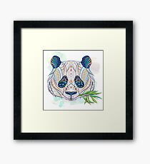 Ethnic Highly Detailed Panda Framed Print