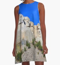 Mount Rushmore Black Hills South Dakota Presidents A-Line Dress