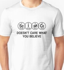 Science Doesn't Care What You Believe (Black) T-Shirt