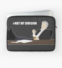 Not My Division - DI Lestrade (white text) Laptop Sleeve