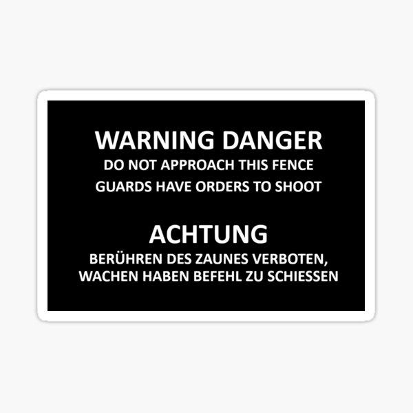 Nachbildung Gefängnis Spandau, West-Berlin-Zeichen Sticker