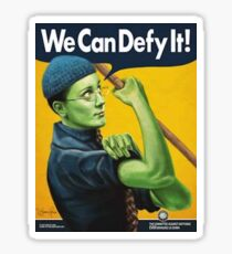 "'we can defy it"" wicked defying gravity Sticker"