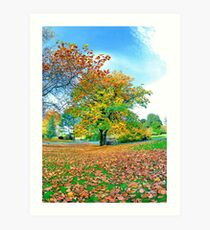 autumn botanics Art Print