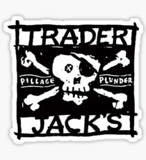 Trader Jack's Pirate Flag Sticker