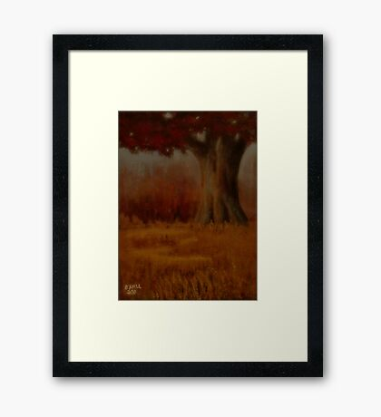 "'""... Down by the Big Oak, at Sundown!'""... prints and products Framed Print"