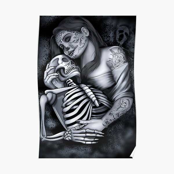 sugar skull - DAY OF THE DEAD Poster