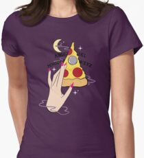 Ouija Pizza Womens Fitted T-Shirt