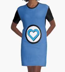 Heart of a Hero - Fantastic Graphic T-Shirt Dress