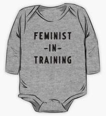 Body de manga larga Feminista en entrenamiento