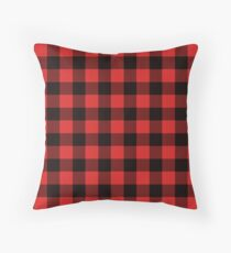Buffalo Check Red And Black Plaid Throw Pillow
