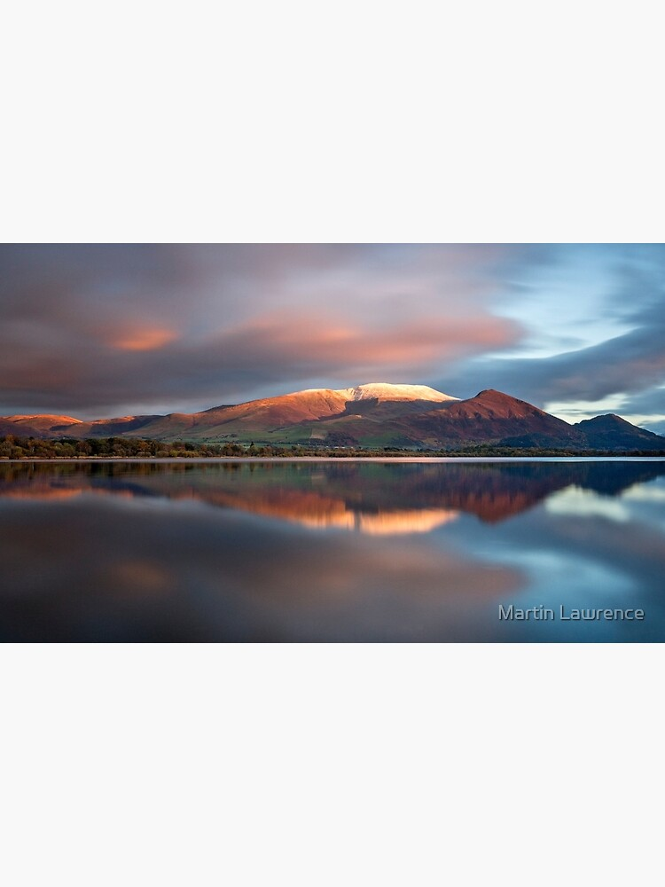 Sunset over the white summit of Skiddaw in the English Lake District by MartinLawPhoto