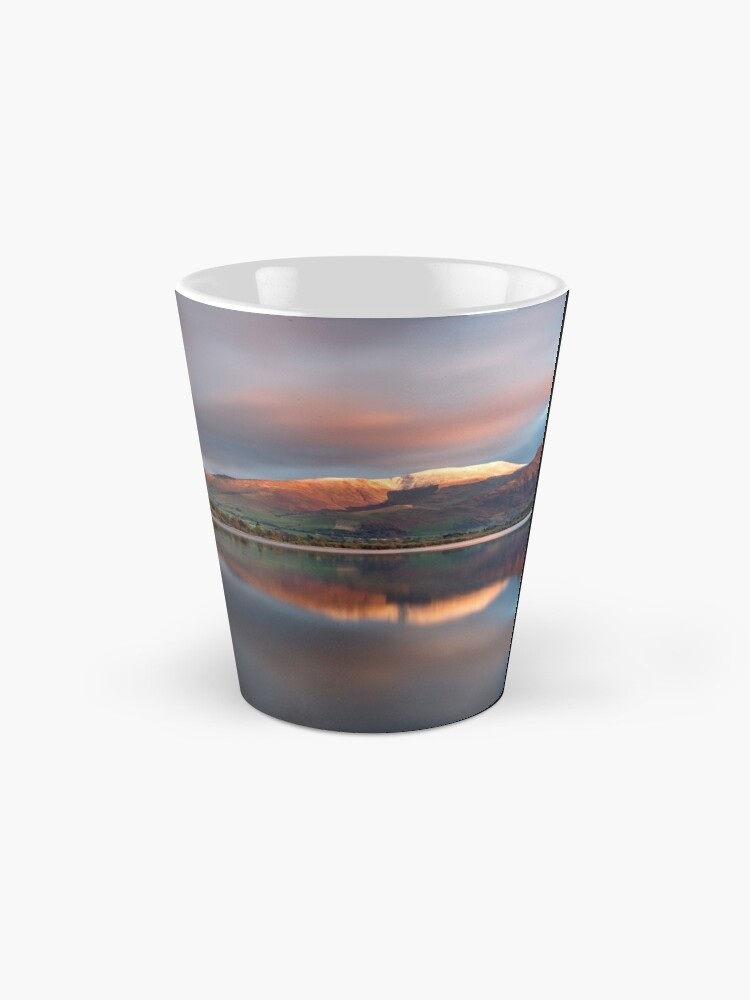 Alternate view of Sunset over the white summit of Skiddaw in the English Lake District Mug