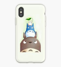 Totoro with his friends iPhone Case