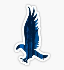 Eagle blue forest Sticker