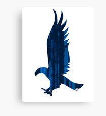 Eagle blue forest Canvas Print