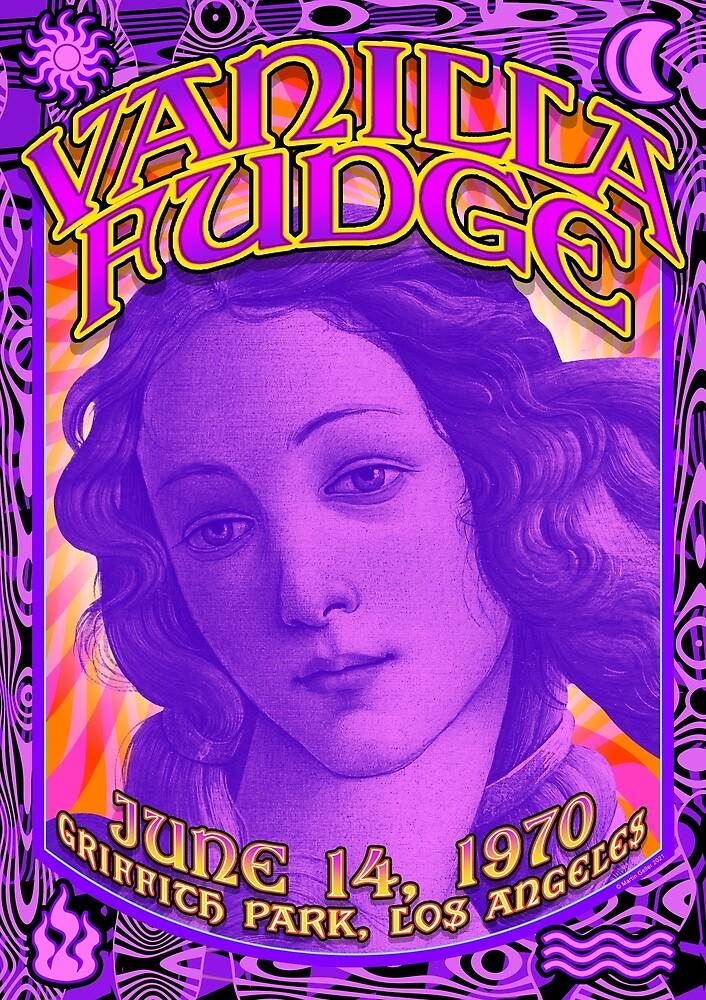 Psychedelic Poster - Vanilla Fudge / Griffith Park, LA / June, 14 1970  by BLTV