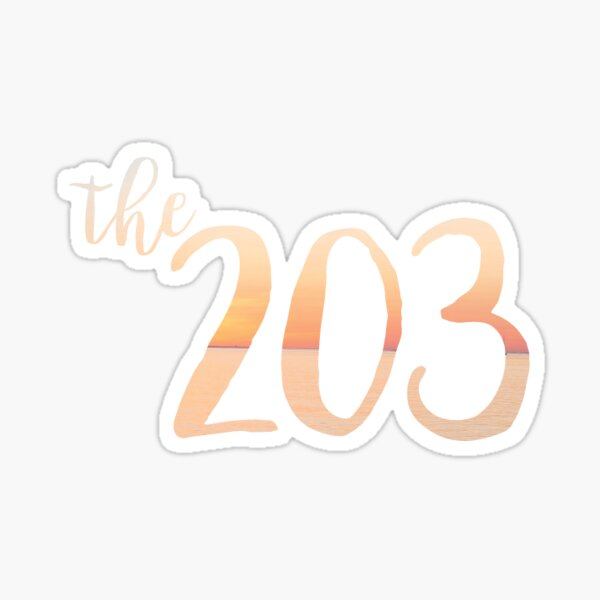 The 203 Sticker
