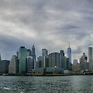 View of New York City at Sunset by Edvin  Milkunic