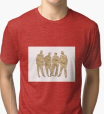 Crumpled Tri-blend T-Shirt