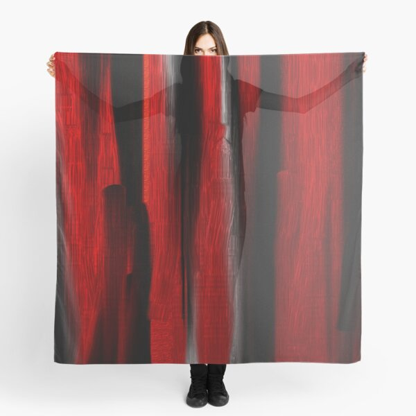 red white and black strokes Scarf