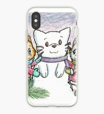 Snowcat and Kittens iPhone Case