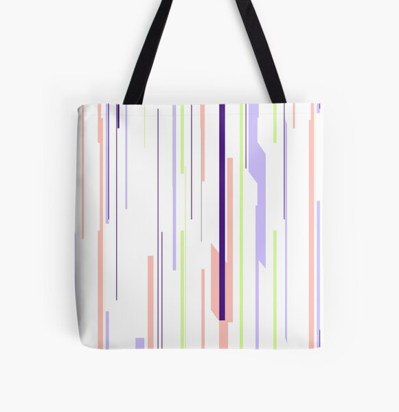 Color Static All Over Print Tote Bag