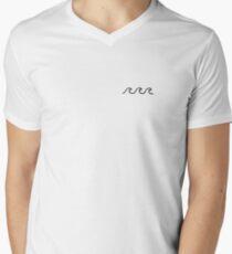 Camiseta para hombre de cuello en v Olas