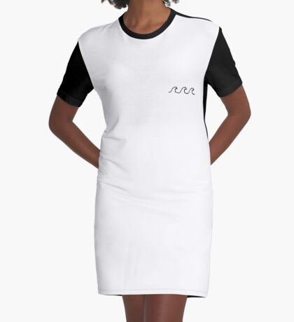 Waves Graphic T-Shirt Dress