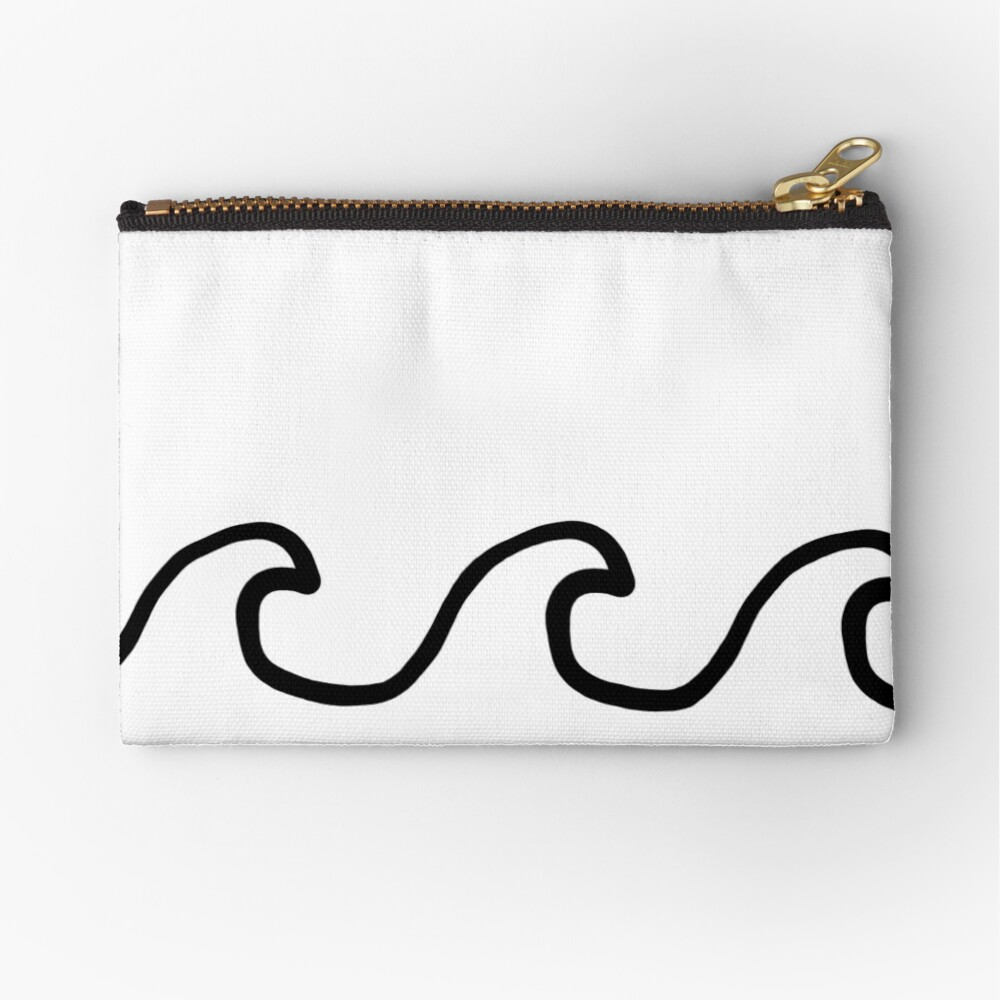 Waves Zipper Pouch
