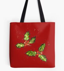 Xmas Holly Tote Bag