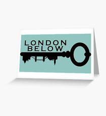 London Below Logo - Black Greeting Card