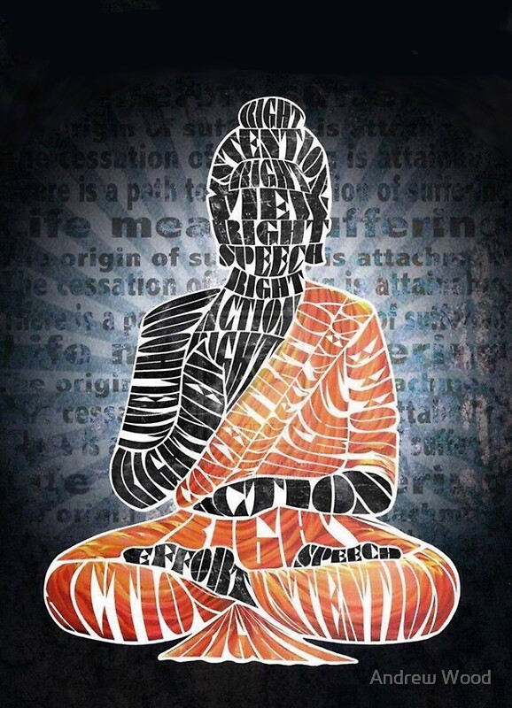 Quot The Eightfold Path Buddha Quot Posters By Andrew Wood Redbubble