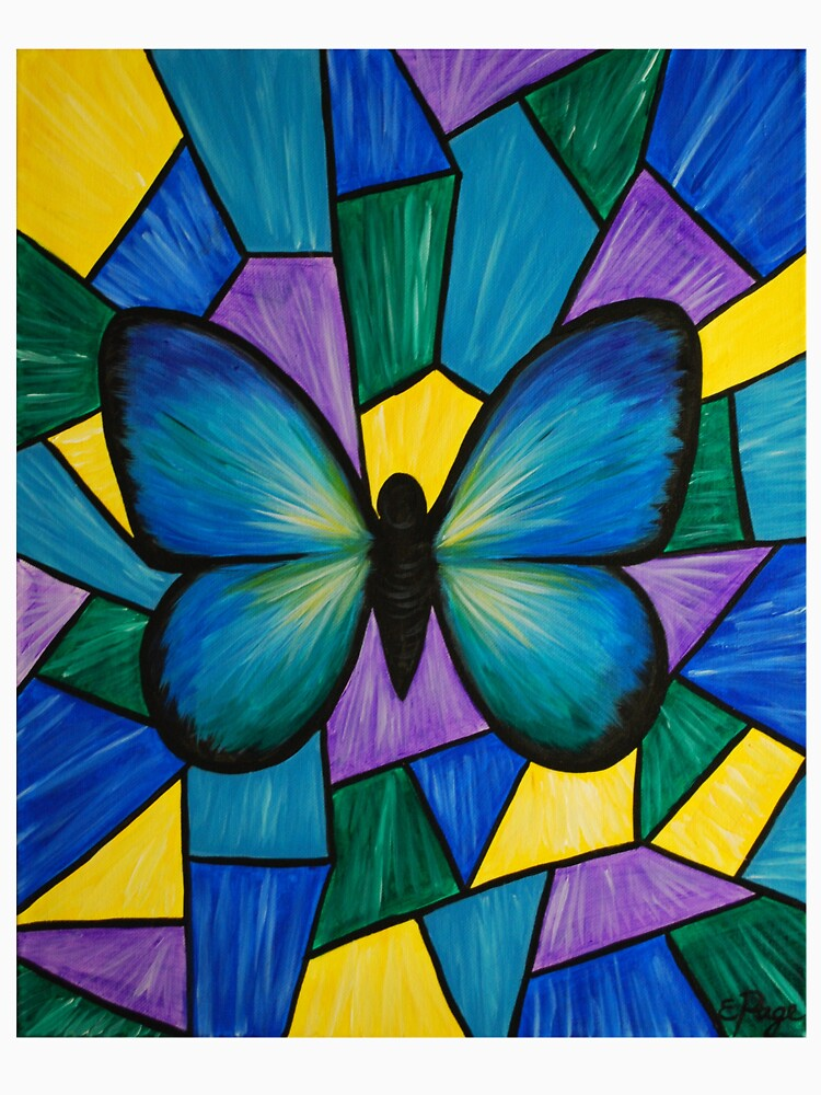 Stained Glass Butterfly by emilypageart