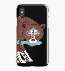 Folk Art Spirit Bear with Fish iPhone Case/Skin