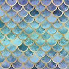 Blue Mermaid Fish Scales by artlovepassion