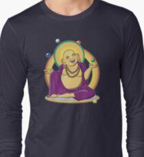 The Juggling Buddha - Color Long Sleeve T-Shirt