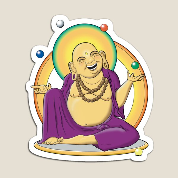 The Juggling Buddha - Color Magnet