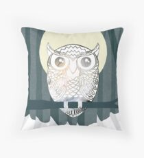 Owl is Calm Throw Pillow