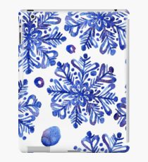 Beautiful watercolor snowflakes seamless ornament for christmas winter design iPad Case/Skin
