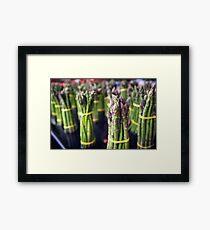 Asparagus Bunches Framed Print