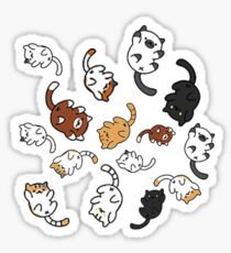 Kitty Rain Sticker