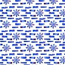 Beautiful watercolor snowflakes seamless ornament for christmas winter design by OlgaBerlet