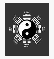 Yin Yang Tai Chi Symbol with Chinese Characters Photographic Print