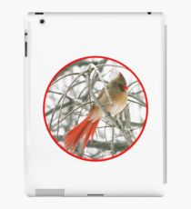 redbird with red ring iPad Case/Skin