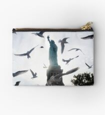 Statue of Liberty with Birds: NYC Studio Pouch