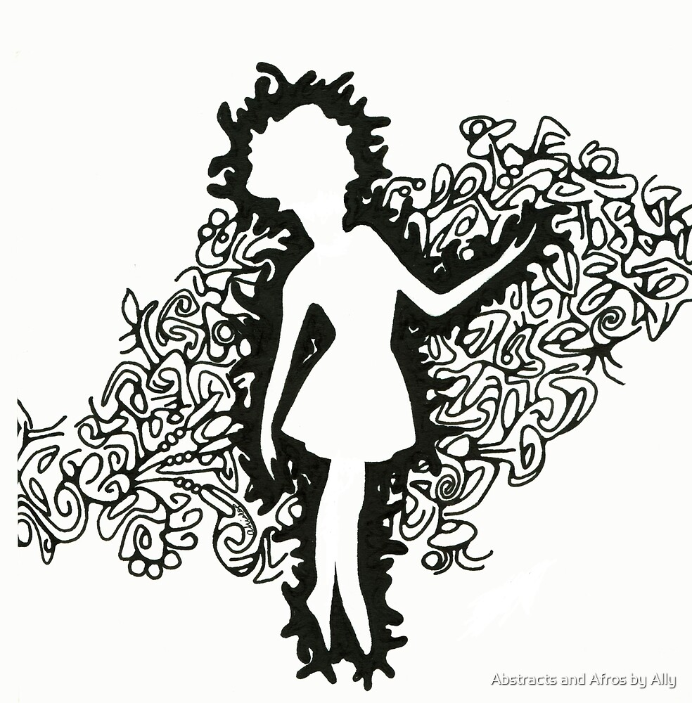 Ballerine en Noir 2 by Abstracts and Afros by Ally