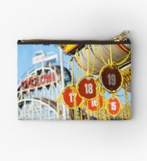 Coney Island Astroland and Cyclone: Brooklyn, NYC Studio Pouch