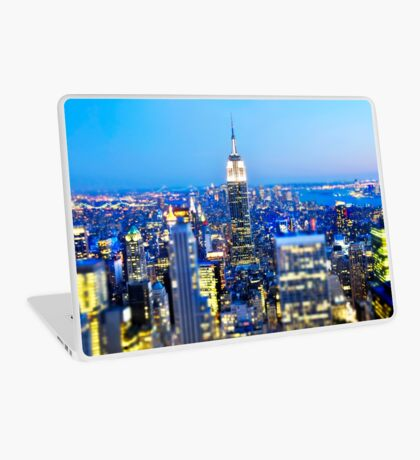 Empire State Building at Night: NYC Laptop Skin