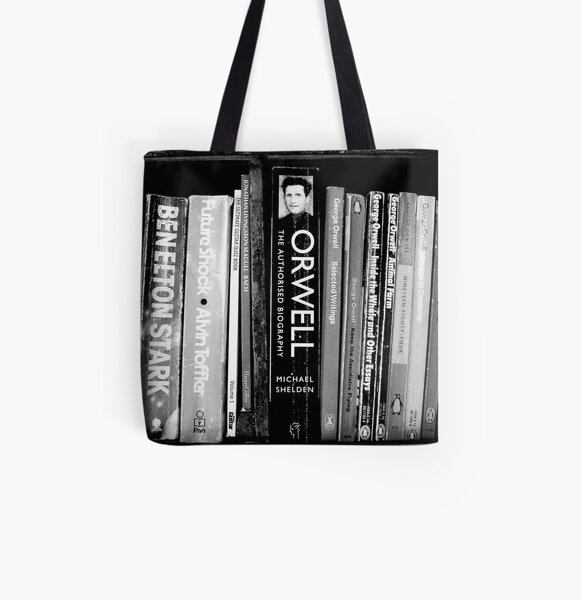 The Man in the Bookcase All Over Print Tote Bag